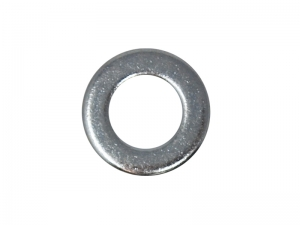 Rondella piana interno 13 mm esterno 24 mm zincata bianca