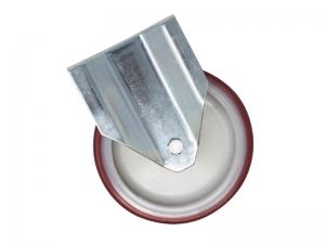 Ruota fissa in gomma con piastra diametro 150 mm portata 180 kg