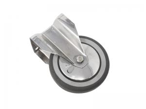 Ruota fissa in gomma con piastra diametro 125 mm portata 100 kg