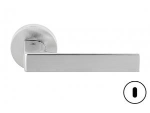 Maniglia per porta Robocinque rosetta foro patent cromat Colombo Design ID61 R