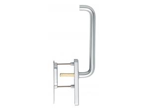 Maniglione per alzante scorrevole Paris alluminio argento Hoppe HS-038/419N-AS/420